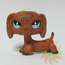 Littlest Pet Shop LPS Animal Toy #640 Swirls Tattoo Dachshund Dog Diamond Eyes D