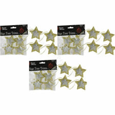 Adornos de color principal plata estrella para árbol de Navidad