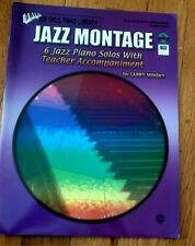 Jazz Montage 6 Piano Solos with Teacher Accompaniment Elementary Music Book W CD