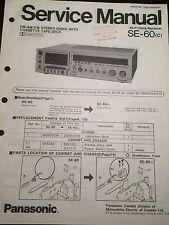 Original Technics Model SE-60 Stereo Radio with Cassette Deck Service Manual