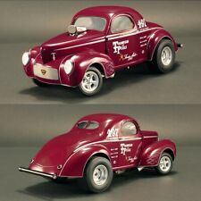 ACME A1800909 THOMPSON & POOLE 1941 GASSER 1:18 DIECAST MODEL CAR BURGUNDY