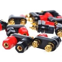 Dual 2-way Female Banana Plug Jack Speaker Amplifier Terminal Binding Post