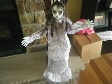 HALLOWEEN HANGING BABY GIRL DOLL ZOMBIE POSEABLE ARMS PAJAMAS NO BODY THE RING??