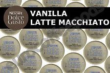 100 x Dolce Gusto Latte Macchiato Vanilla Pod Capsule 50 Coffee/ Milk Sold Loose