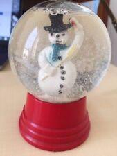 Boule à neige vintage, Le bonhomme de neige, globe verre,Driss Co USA Chicago