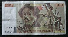 France - Francia - French note - Billet de 100 Francs Delacroix 1990