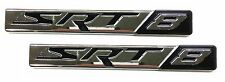 x2 New Chrome SRT8 Emblem Replaces OEM Mopar Dodge Jeep Chrysler SRT 8 Badge