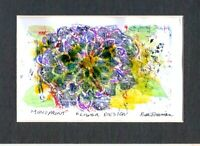 FLOWER DESIGN by Ruth  Freeman MONOPRINT MEASURES  5 X 7 WITH MAT