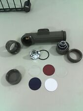 Tested AA+ Fulton MX-991\U Bulb USMC//Army  Surplus Flashlight W// Extra Lenses