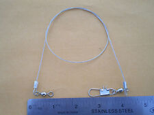 """15 STAINLESS STEEL WIRE SPINNER LEADER 24"""" 100 LBS. TEST (CLEAR)"""