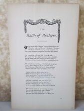 Vintage Print,BATTLE BOULOGNE,Real Sailor Songs,1891