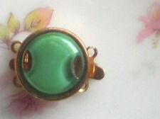 Vintage Clasp Glass Art Deco Two Strand Bracelet Necklace Strand 14mm #1480F