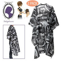 2PC Hair Cutting Cape Salon Gown Hairdresser Barber Shop Cloak Hairdressing Cape