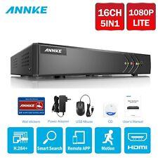 Annke 16Ch 1080P Lite H.264+ 2Mp Video Cctv Dvr Home Security Remote App System