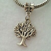 Tree Of Life Dangle Bead For European Style Charm Bracelet Or Clip On Charm
