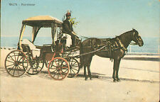 More details for malta postcard  : fourwheeler : early 1900s colour card
