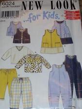 NEW LOOK #6024 - CHILDS CUTE PANTS - ROMPER - TOP - DRESS & VEST PATTERN  ½-4uc