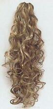 """20"""" Long Blond/Brown/Black/Auburn Curly Claw clip Hairpiece Ponytail"""