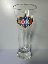 Super Bowl XXXII Beer Glass Gold Rimmed San Diego CA 1998 Great Condition - Rare
