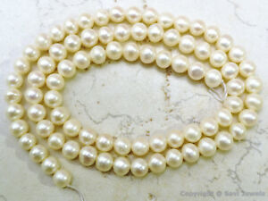 """Natural Fresh Water Pearl 5-5.5mm Round Beads 16""""str - A++ Quality"""
