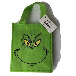 GRINCH Gift Bag by Hallmark - RARE - Green, Felt - NEW - NWT - 2012
