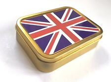 UNION JACK Flag Tobacco Tin 2 oz  Storage Tin
