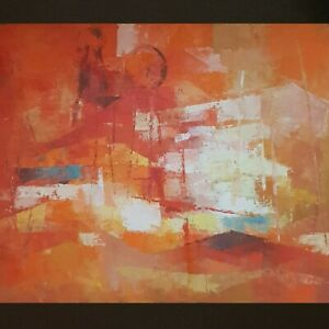 Mid-century Abstract Oil Painting by listed artist Kenneth Willes 'The Big Mine'