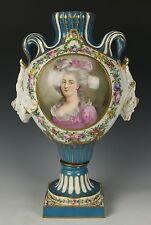 Antique 19C Sevres porcelain Urn signed Rochette