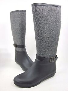 CHOOKA, TIGHT HERRINGBONE BOOT, WOMENS, BLACK, US SIZE 7 M, LEATHER, NEW