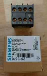 SIEMENS Hilfsschalterblock Switch Block 3RH2911-1GA40 4S / 4NO NEU OVP