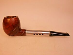 Medico Ventilator 6 mm Filter Pipe Imported Briar Apple Bowl Hard Rubber Ebonite