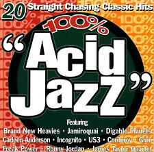 100 % ACID JAZZ / VAR ART - freakpower,Us 3,ronny jordan,jamiroquai,corduroy