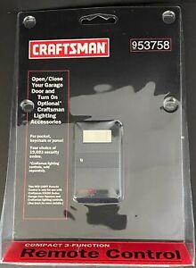 NEW GENUINE Craftsman Garage Door Remote Control 953758 Compact 3-Function
