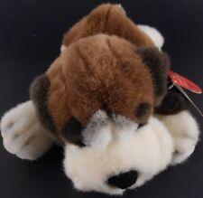"""Russ BARRELS Saint Bernard Puppy Floppy Bean Bag Plush 10"""" long New with Tags"""