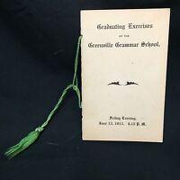 Antique 1913 Greenville Grammar School Graduating Exercises Graduation Program