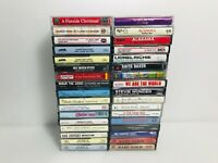 Mix lot of 34 Cassette Tape Rock Country Gospel Christmas & More