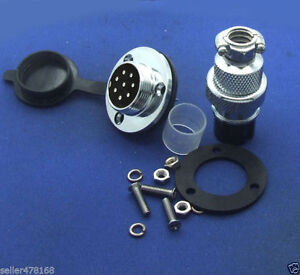 2pcs GX20 8-Pin Aviation plug Disc flange XLR Radio 20mm Panel mount waterproof