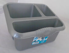 Wham Large Sink Tidy Drainer  Cutlery Drainer Storage Tub Silver NEW