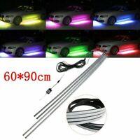 4x wasserdicht RGB LED Unter Auto Tube Streifen Unterlicht Karosserie Neon Licht