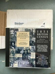 DEVON NORFOLK WARWICK 1851 CENSUS MORMONS CD