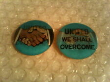 LOT OF 2 UNITED WE SHALL OVERCOME ORIGINAL CIVIL RIGHTS FLASHER STICKERS - 1963