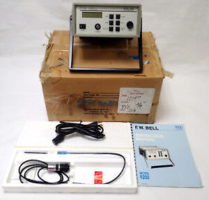 FW BELL 9200CE GAUSSMETER 2G-2kG DC-10 kHz w STG92-0404 PROBE 1X & MANUAL TESTED