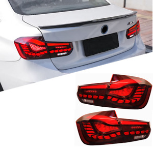 LED Tail Lights For BMW 3 Series F30 F80 2012-2018 Red OLED GTS Style 4PCS Rear