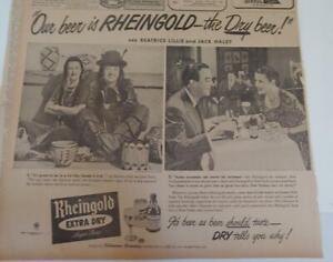 JULY 19, 1948 NEWSPAPER PAGE #R80004- RHEINGOLD BEER AD FEATURING JACK HALEY