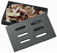 Outdoor Cooking Cast Iron Smoker Box Smoke Flavor BBQ Grilling Accessory Black