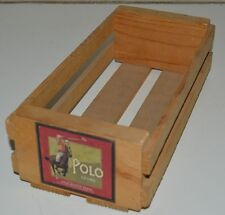 Nice Vintage POLO Brand Oranges Cassette Tape Box Crate Holder Napa Valley Rare