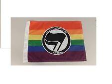 Mini Anonymous Antifa Antifascist flag anti homophobe gay lesbian Anon 4chan
