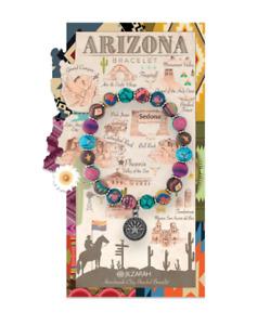 NEW JILZARA Handmade Clay Beads DESTINATION ARIZONA MULTI DAHLI 8mm Bracelet