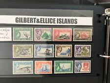 More details for gilbert & ellice islands-1938-55 set to 5/- sg 43-54 mounted mint
