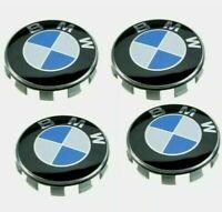 4 Tappi Coprimozzo BMW 68 mm Serie 1 2 3 4 5 6 7 X M Z stemma cerchi Lega Logo
